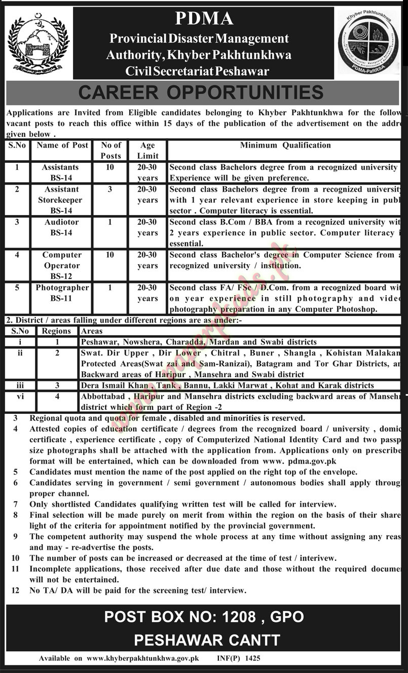 Assistant, Assistant Storekeeper, Audiotor, Computer Operator, photographer and Other Jobs