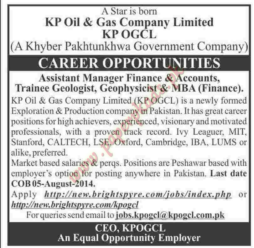 assistant manager finance and accounts trainee geologist