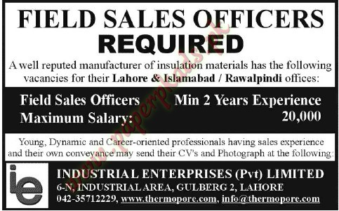 Field Sales Officers Jobs in lahore