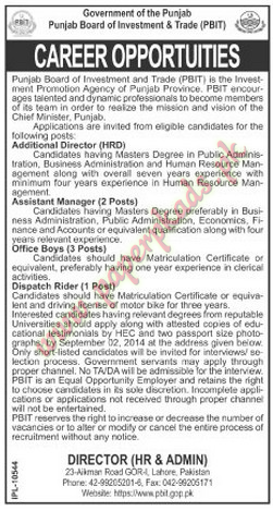 Government Jobs - Additional Director, Assistant Manager, Office Boy