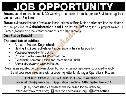 Administration And Logistics Officer Jobs  The News Jobs Ads