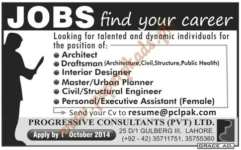 Architect Draftsman Interior Designer Master And Urban Planner And Other Jobs Jang Jobs Ads