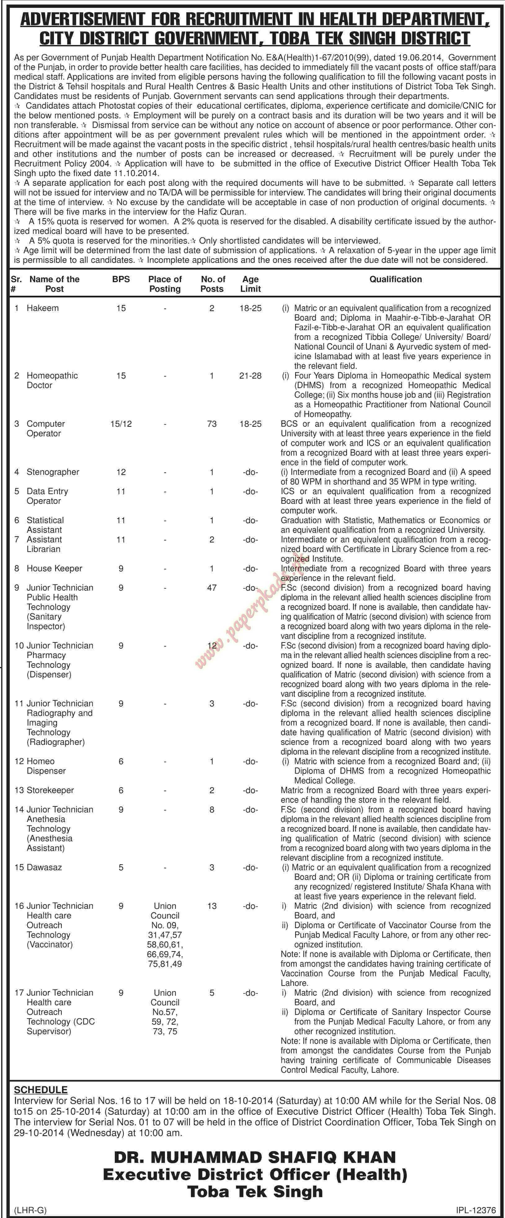 hakeem homeopathic doctor computer operator stenographer data hakeem homeopathic doctor computer operator stenographer data entry operators and other jobs dawn jobs ads 24 2014