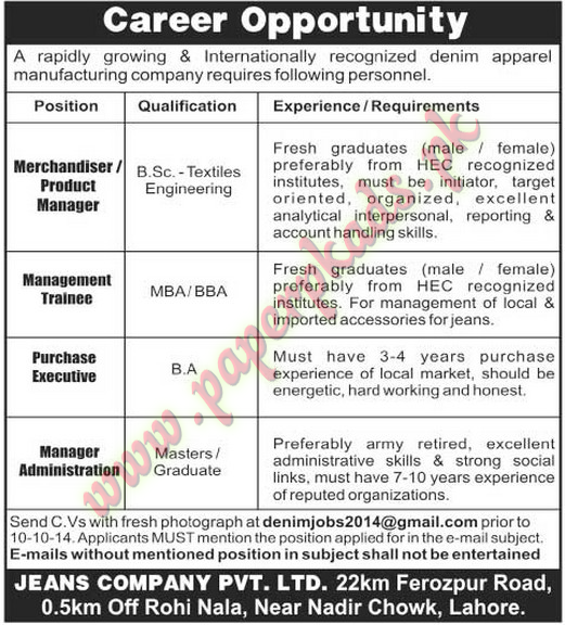 Purchasing Executive Jobs 22.06.2017