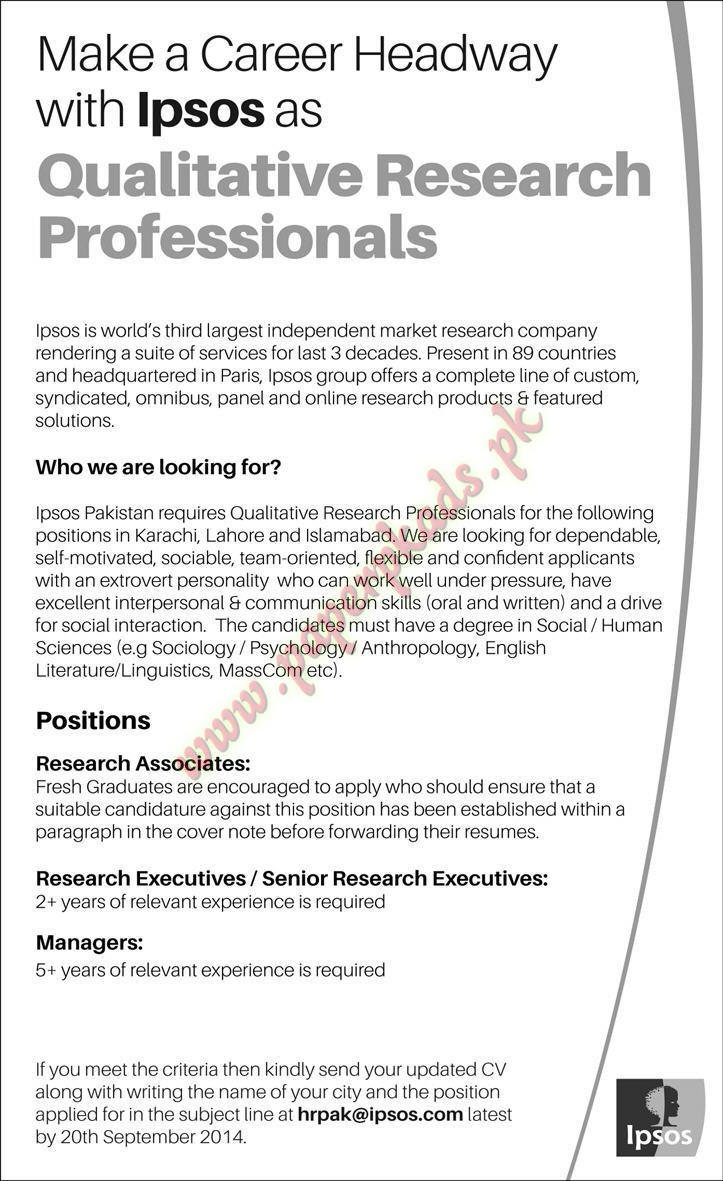 Research Analysts Required - The News Jobs ads 27 November 2016 ...