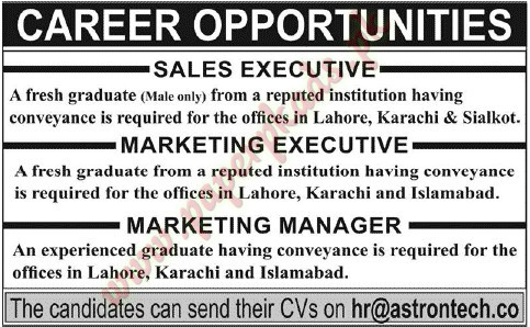 Sales Executive Marketing Executive Marketing Manager Jobs  Jang