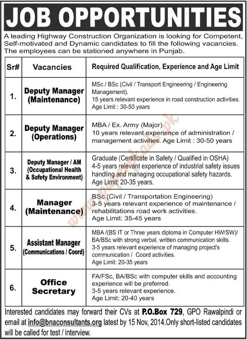 Deputy Manager Manager Assistant Manager Office