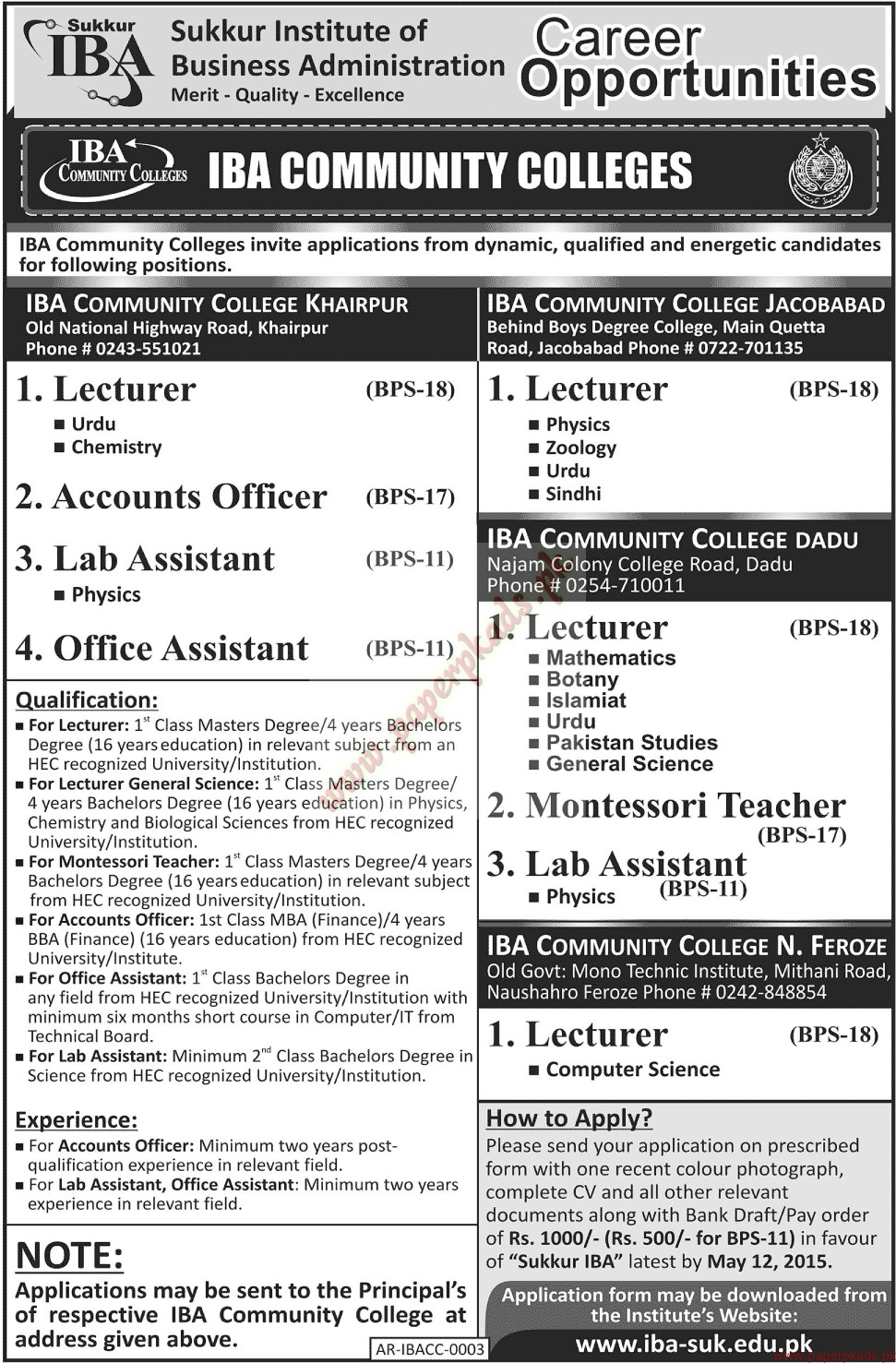 sukkur institute of business administration jobs jang jobs ads sukkur institute of business administration jobs jang jobs ads 26 2015