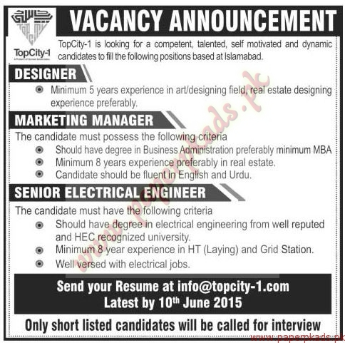 Designer Marketing Managers And Senior Electrical Engineers Jobs The News Jobs Ads 31 May 2015