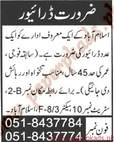 Drivers Jobs - Jang Jobs ads 09 June 2015