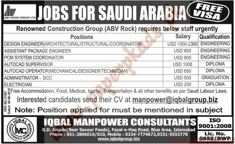 Iqbal Management Consultants Jobs - Jang Jobs ads 07 June 2015