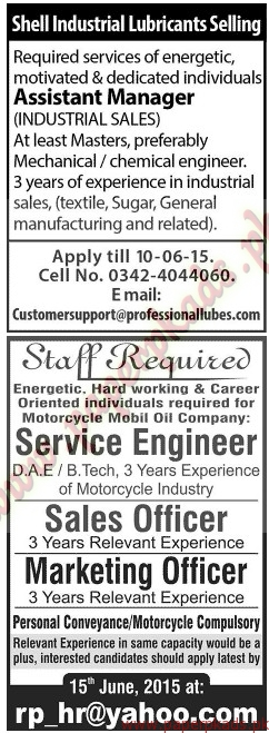 Multiple Jobs - Part 6 - Jang Jobs ads 07 June 2015