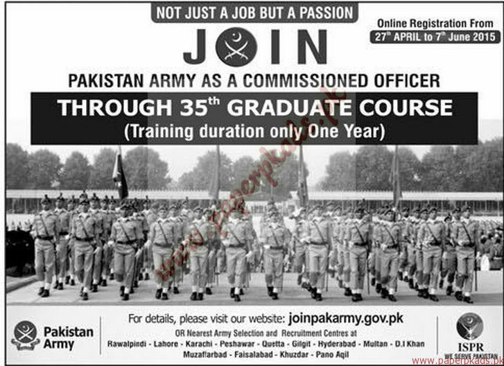 Pakistan Army Jobs 1 - Express Jobs ads 07 June 2015