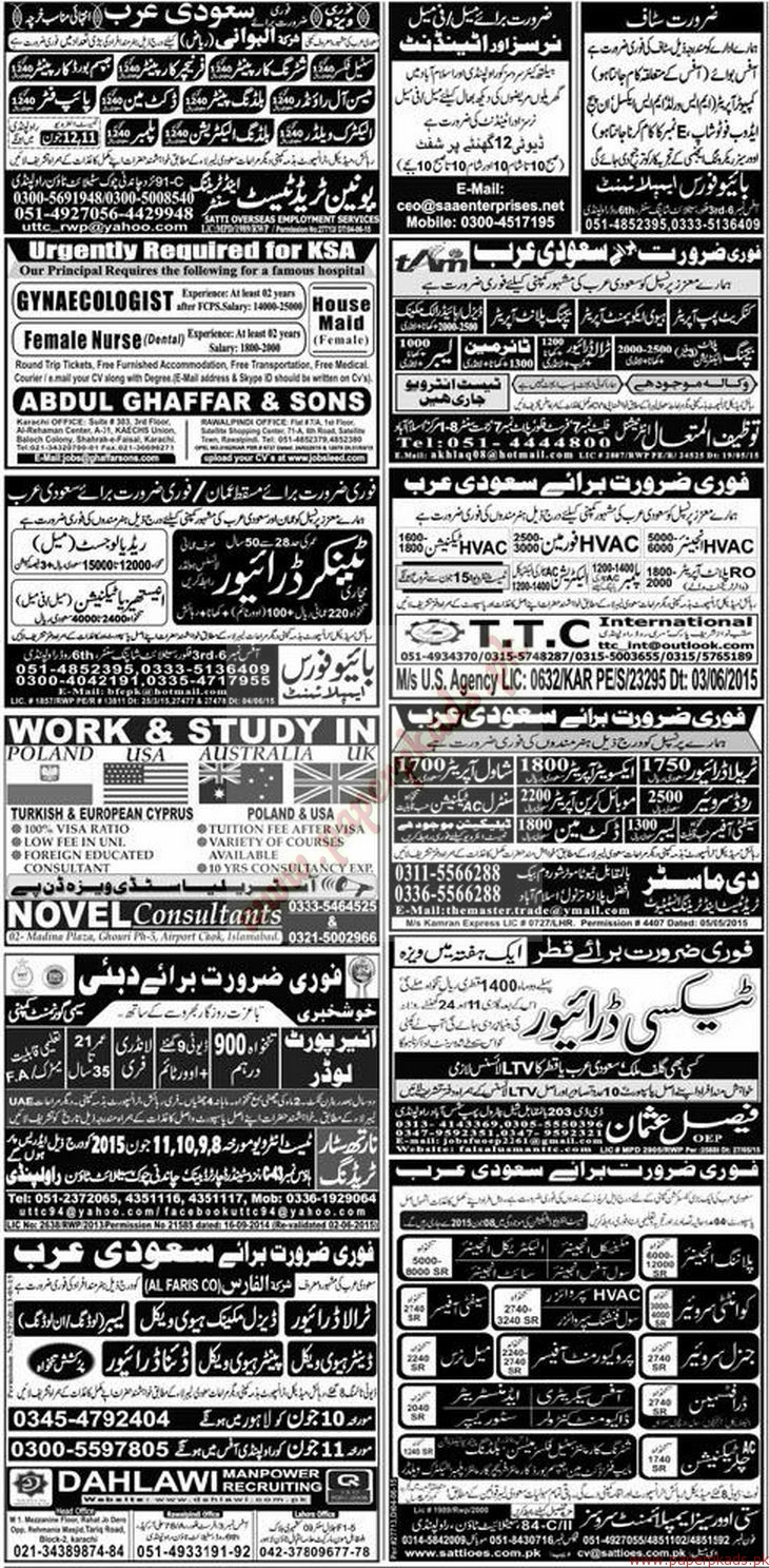Planning Engineers, Safety Officers, Draftsman, Administrators, Store Keeper, Technicians, Security Guards and Other Jobs - Express Jobs ads 07 June 2015