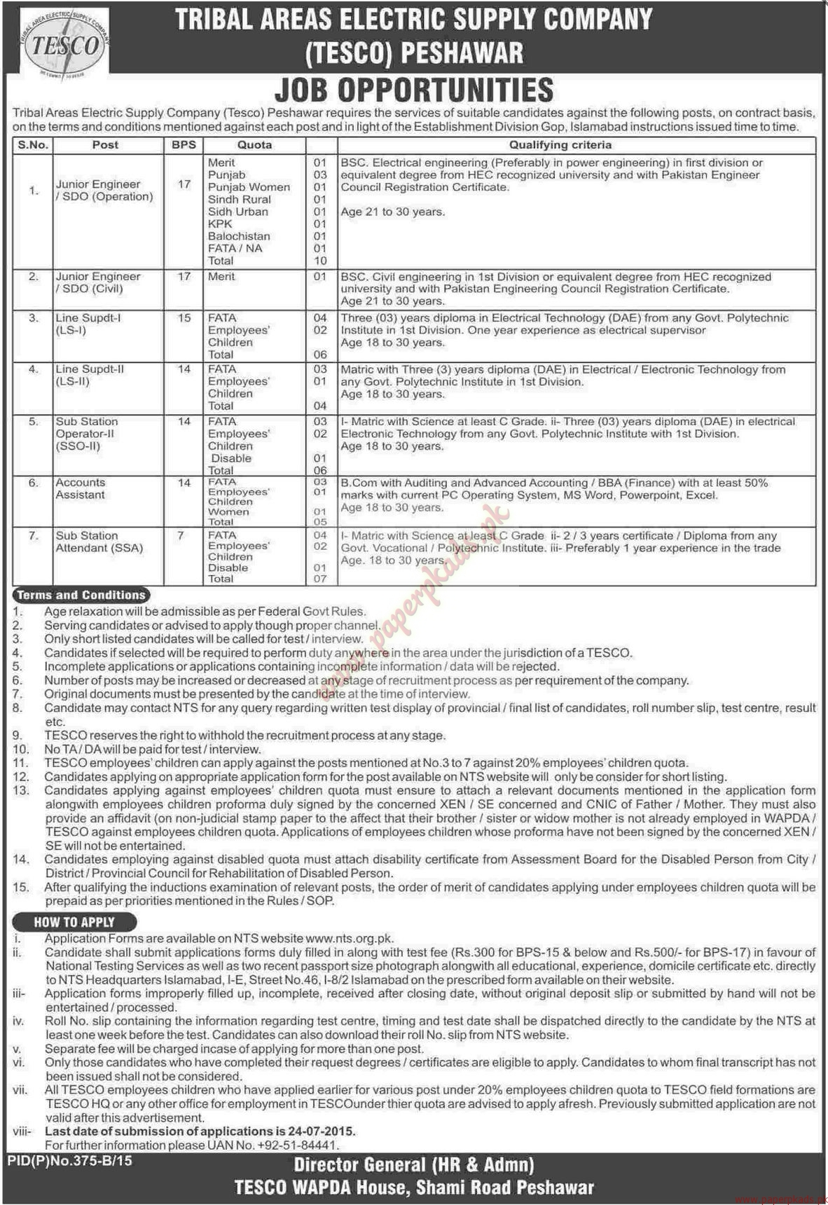 Tribal areas electric supply company peshawar jobs dawn jobs ads tribal areas electric supply company peshawar jobs dawn jobs ads 23 june 2015 falaconquin