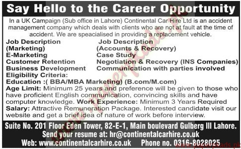 UK Campaign Continental Care Hire Ltd Jobs - Jang Jobs ads 07 June 2015