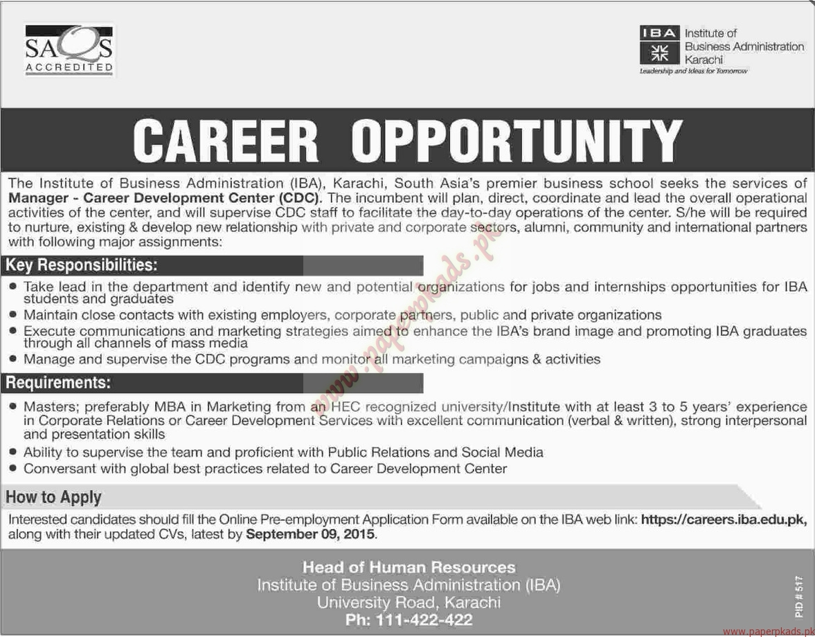 institute of business administration jobs dawn jobs ads 23 institute of business administration jobs dawn jobs ads 23 2015