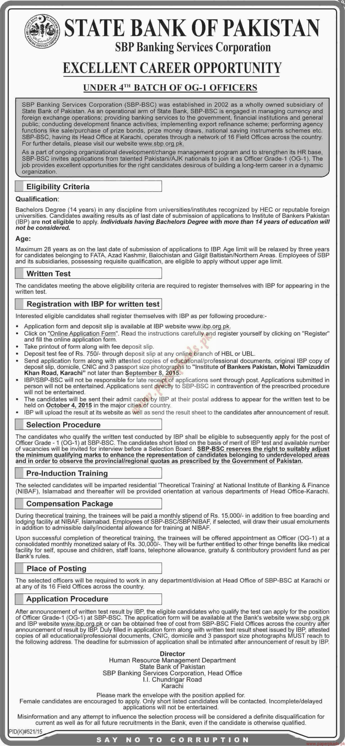 State bank of pakistan jobs dawn jobs ads 23 august 2015 paperpk state bank of pakistan jobs dawn jobs ads 23 august 2015 falaconquin