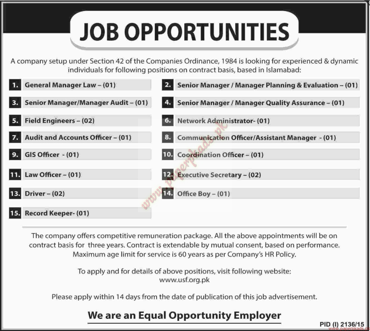 general managers senior managers field engineers networks general managers senior managers field engineers networks administrators law officers and other jobs dawn jobs ads 31 2015