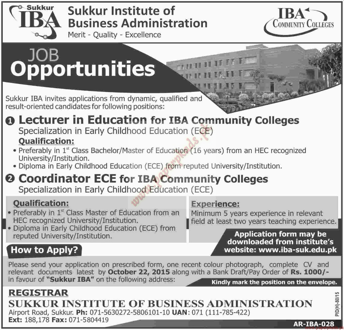 Sukkur Institute of Business Administration Jobs - Dawn ...