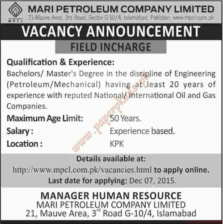 mari company Mari petroleum field was originally owned by pakistan stanvac petroleum project (pspp), a joint venture between government of pakistan at 49%, and esso eastern.