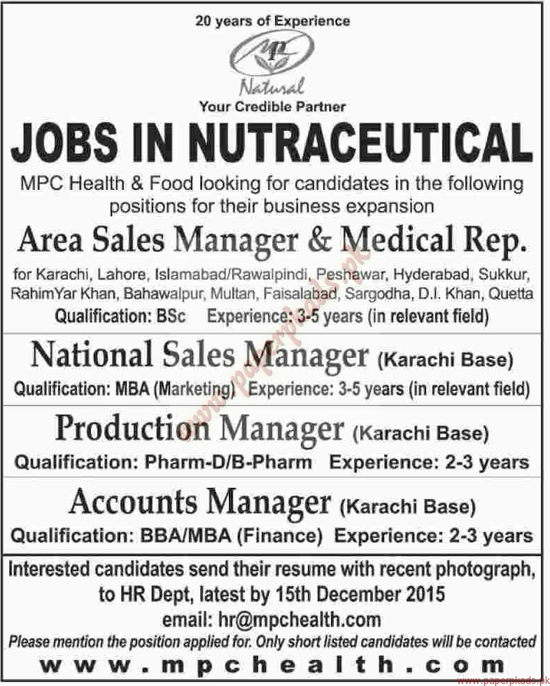 national sales manager job description