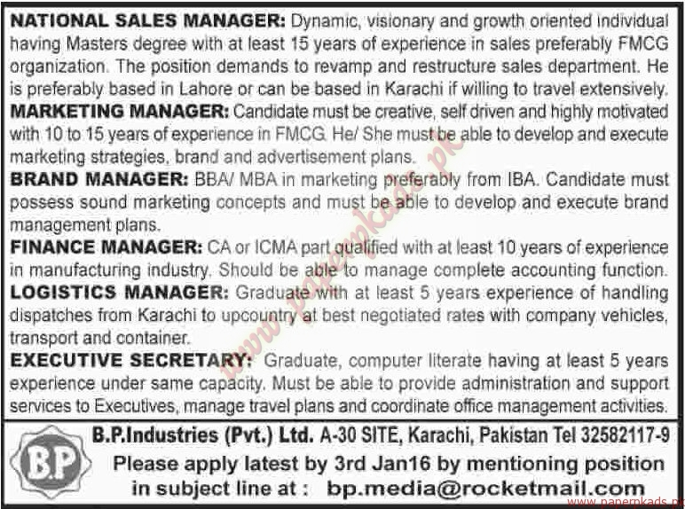 National Sales Managers Jobs 24.05.2017