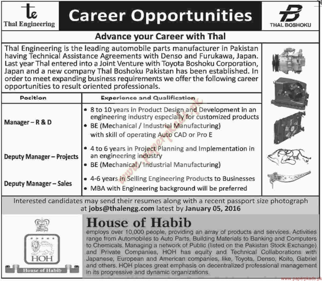 Paper Engineering Jobs Thal Engineering JObs Dawn Jobs Ads  December  Paper Engineering Jobs