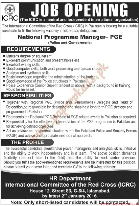 The International Committee of the Red Cross ICRC Jobs Jang