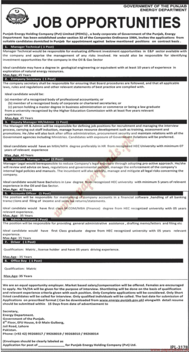 punjab energy holding company private limited jobs jang jobs ads punjab energy holding company private limited jobs jang jobs ads 22 2016
