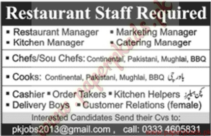 Restaurant Manager Kitchen Manager Marketing Manager Catering Managers And Other Jobs Jang