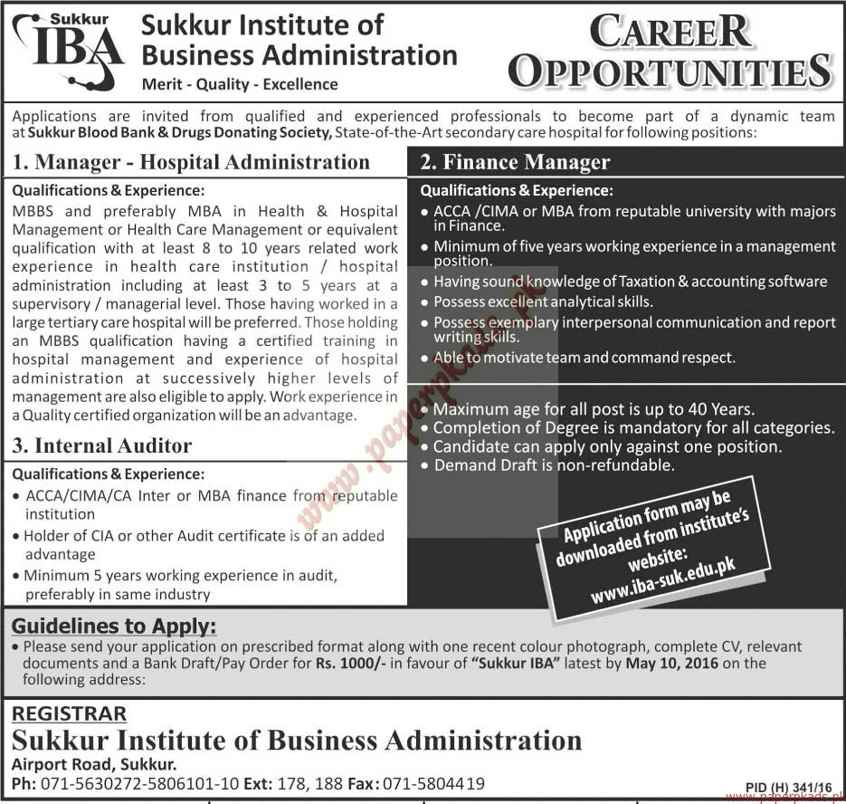 Sukkur Institute of Business Administration Jobs - Jang ...