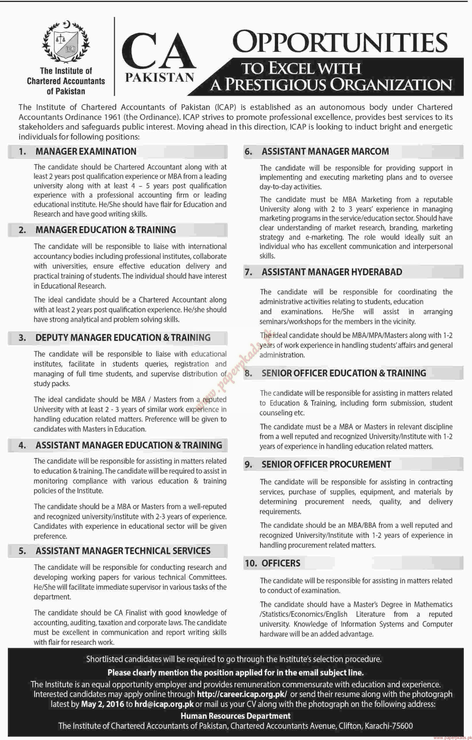 the institute of chartered accountant of jobs dawn jobs the institute of chartered accountant of jobs dawn jobs ads 17 2016