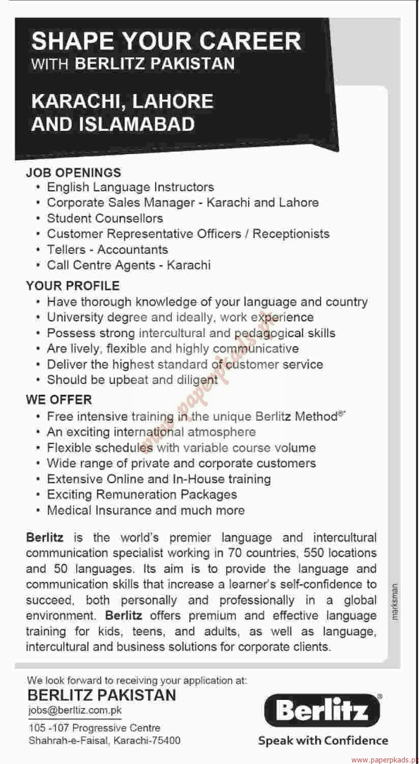 berlitz jobs dawn jobs ads paperpk berlitz jobs dawn jobs ads 08 2016