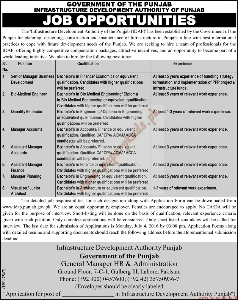 government of the punjab infrastructure development