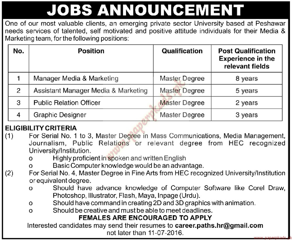 managers assistant managers public relation officers and other managers assistant managers public relation officers and other jobs mashriq jobs ads 26 2016