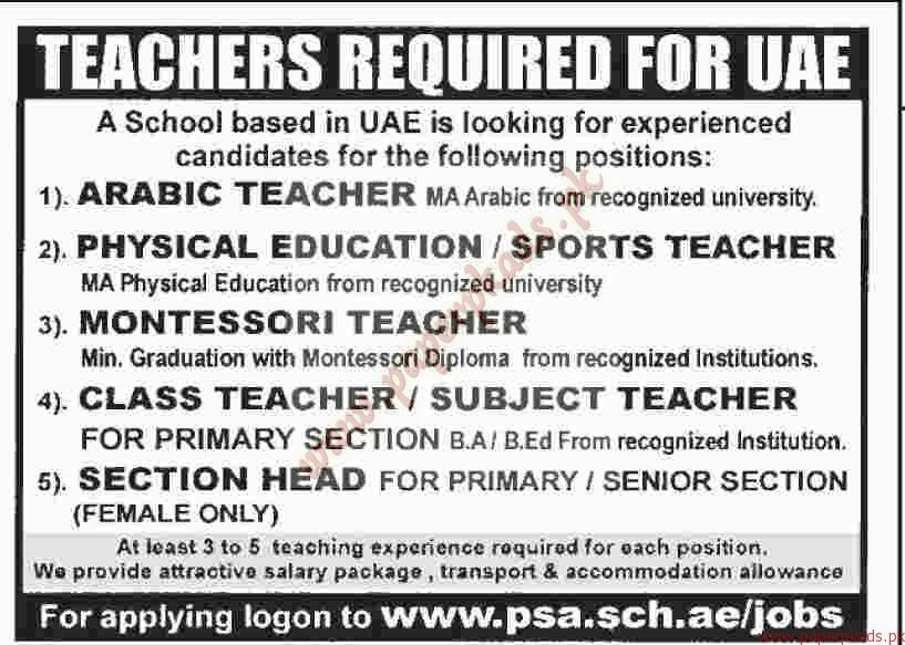 University English Teaching Jobs In Uae - Lawteched