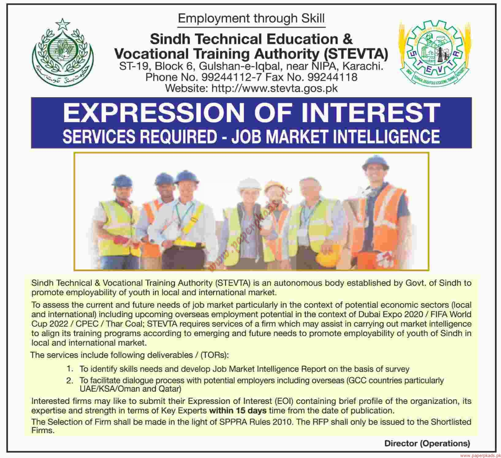 sindh technical education vocational training authority jobs dawn jobs ads 14 july 2016