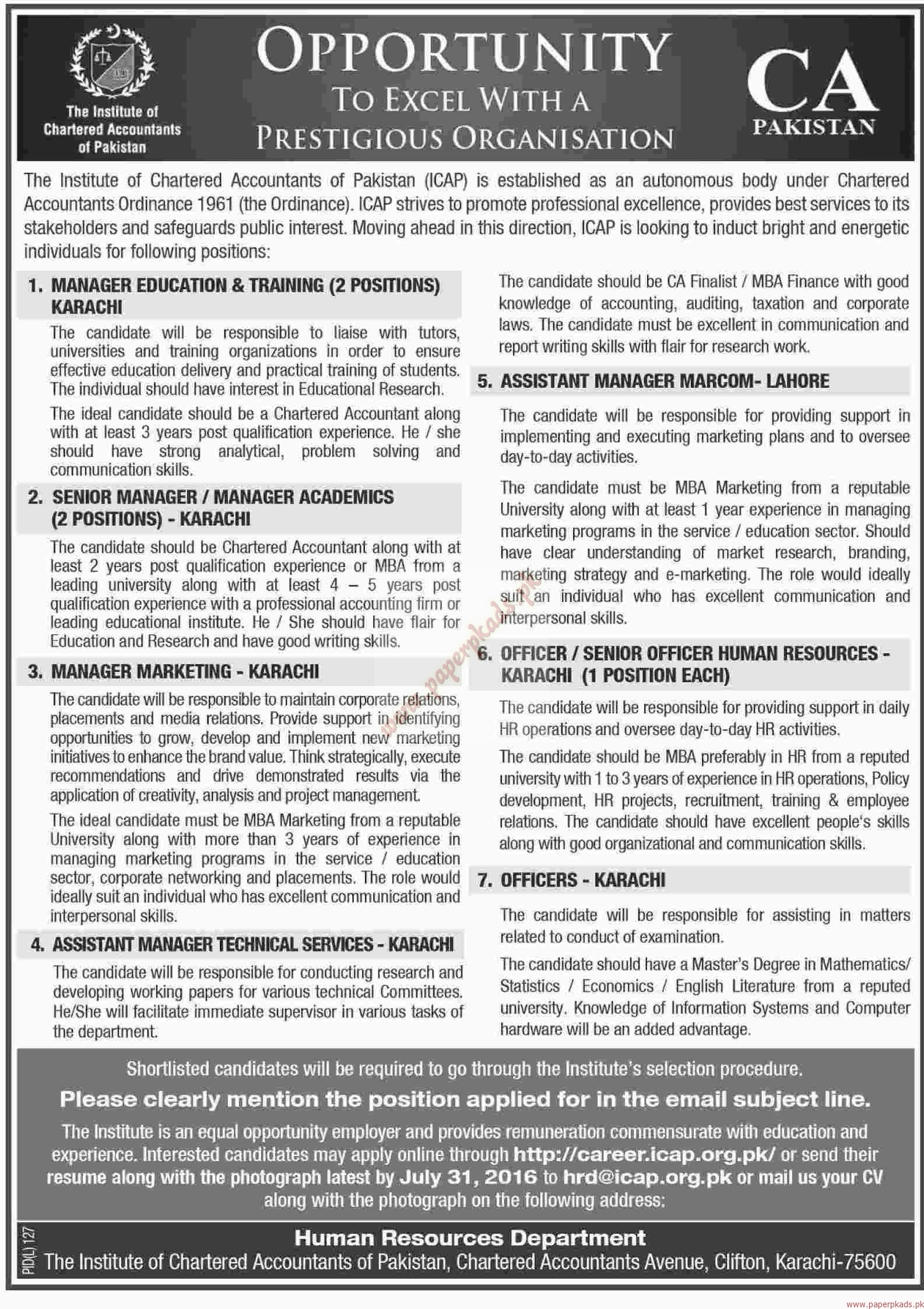 Resume Chartered Accountant Pakistan