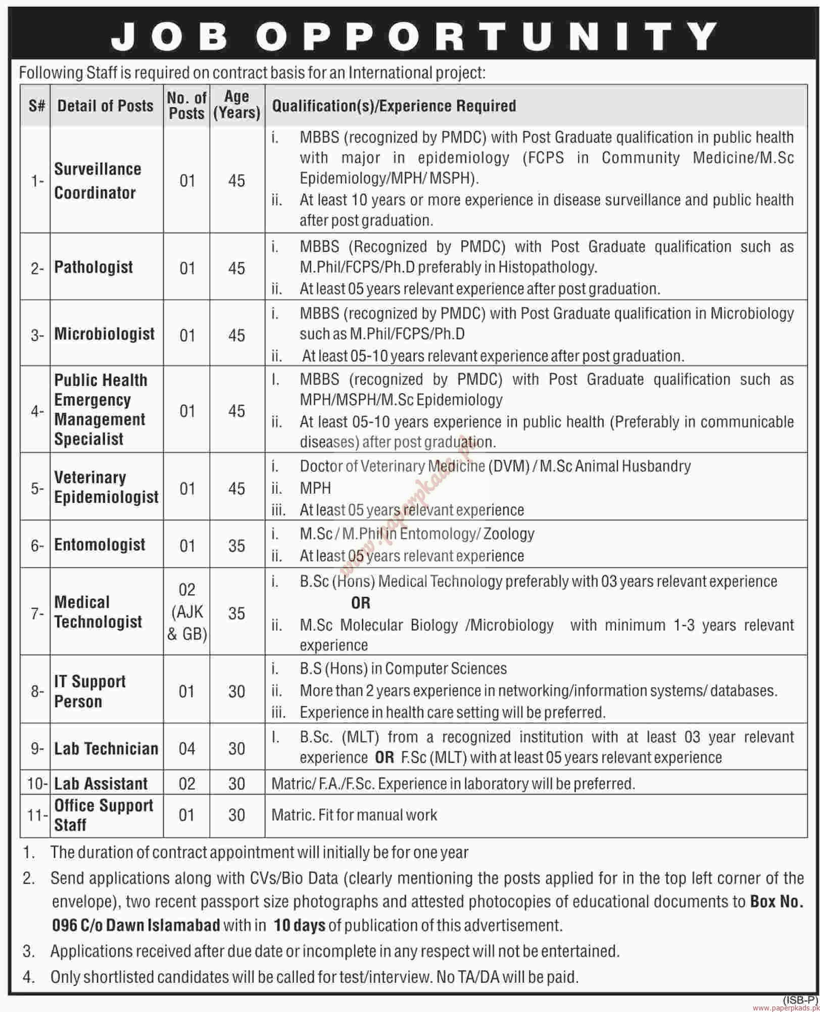 it support persons medical technologists lab assistant and other it support persons medical technologists lab assistant and other jobs dawn jobs ads 13 2016