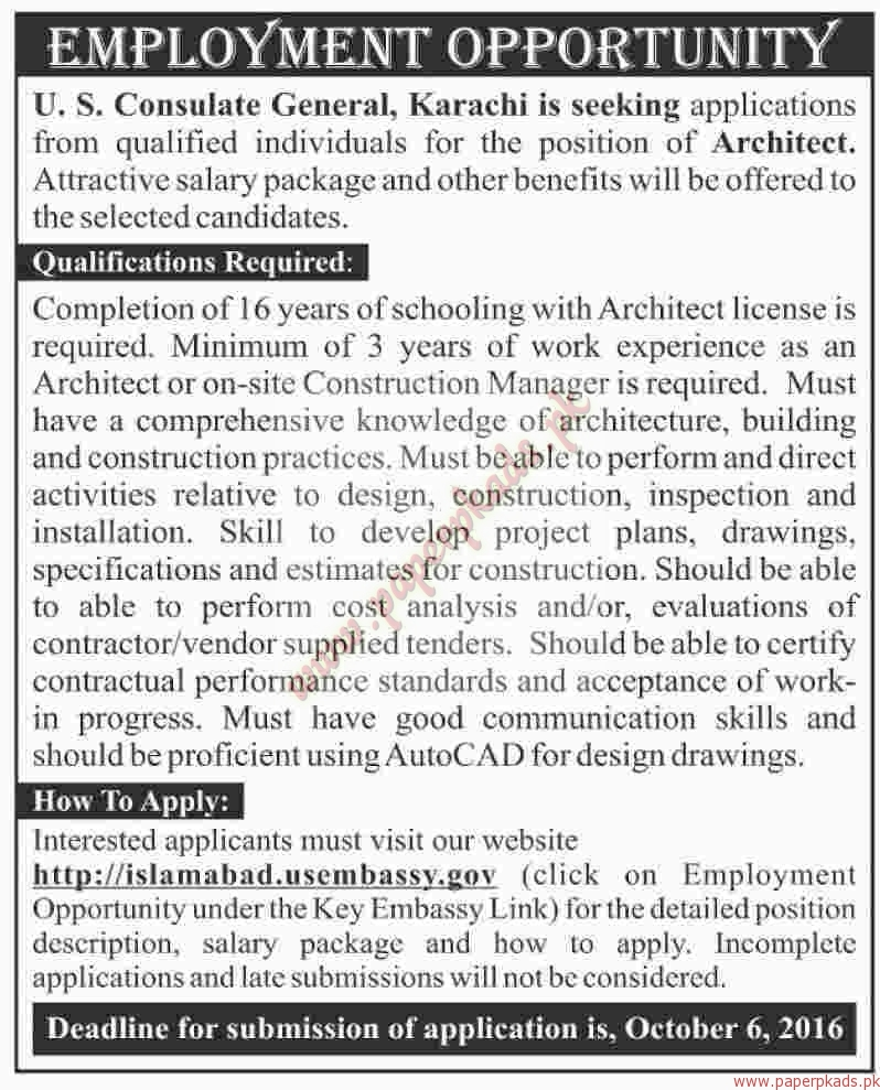 Us consulate general jobs dawn jobs ads 25 september for Consulate jobs