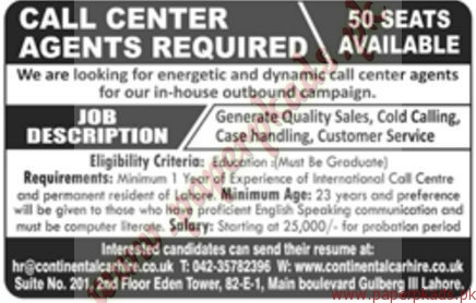 call center agents required jang jobs ads 18 december 2016 paperpk. Black Bedroom Furniture Sets. Home Design Ideas
