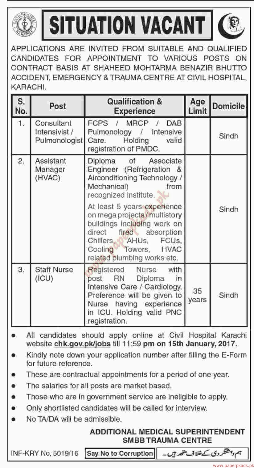 Consultant, Assistant Managers and Staff Nurses Jobs - Dawn Jobs ads 30 December 2016