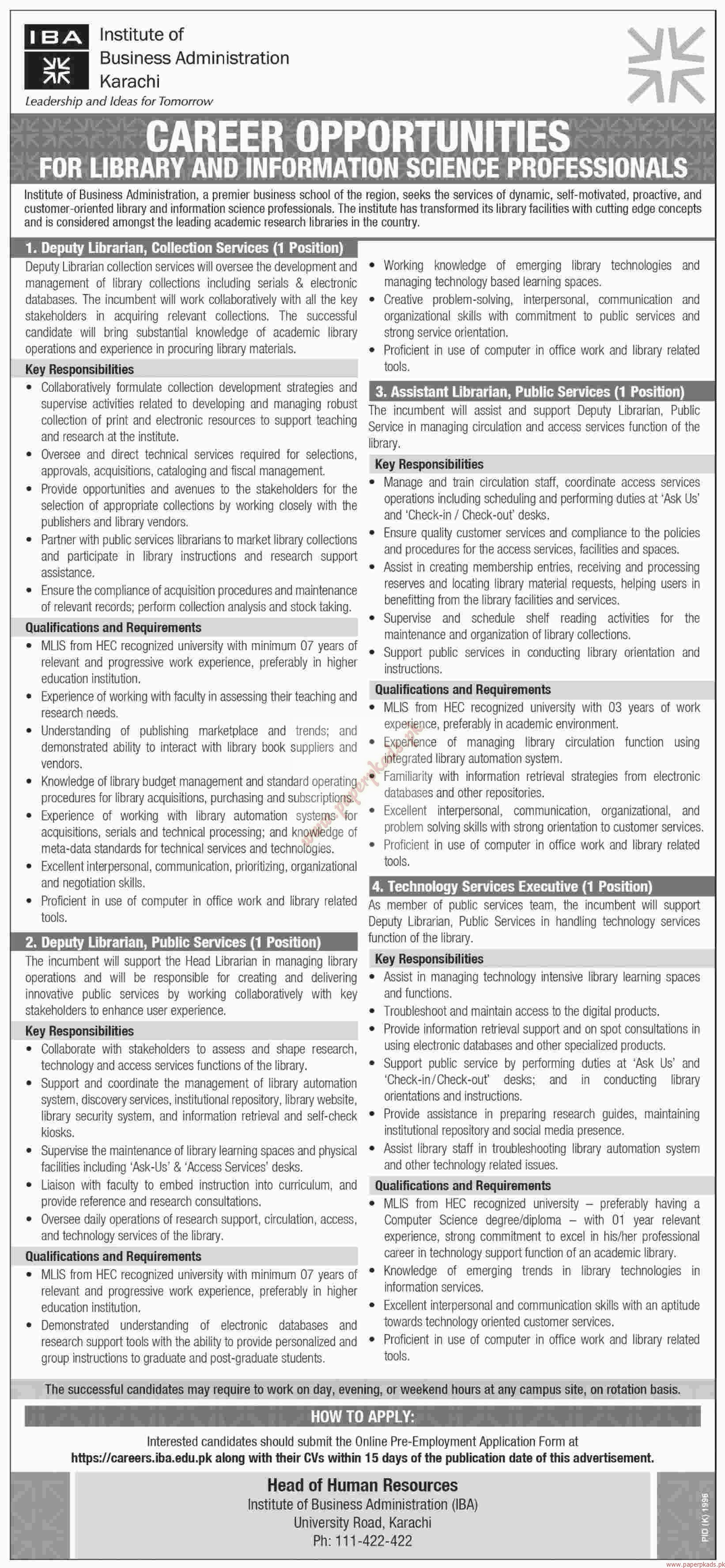 institute of business administration jobs 2 dawn jobs ads 04