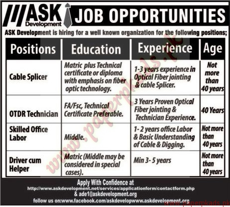 ASK Development Jobs 1