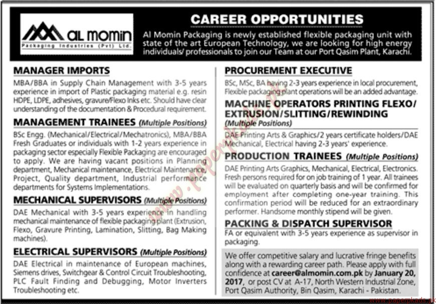 Al Momin Packaging Jobs
