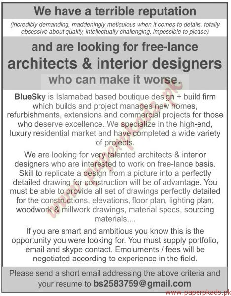 Architects interior designers jobs the news jobs ads - Interior design job advertisements ...