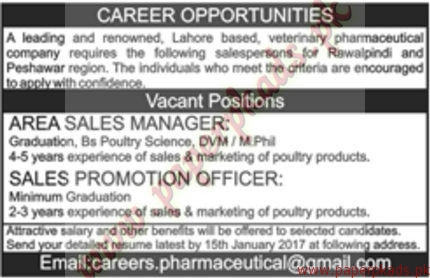 Area Sales Managers and Sales Promotion Officers Jobs