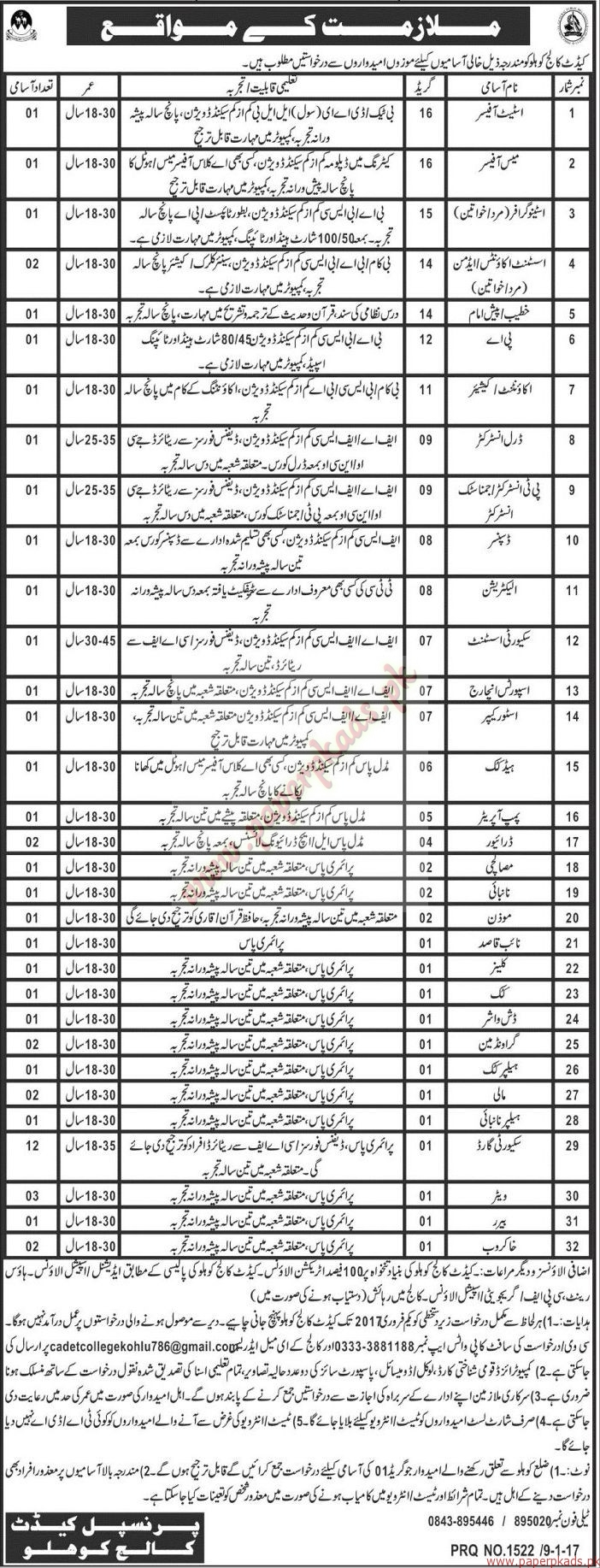 Assistant Officers Mess Waiters Assistant Accounts Admin Stenographers Accountant and Other Jobs