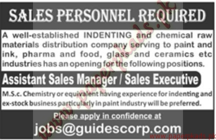 Assistant Sales Managers and Sales Executives Jobs